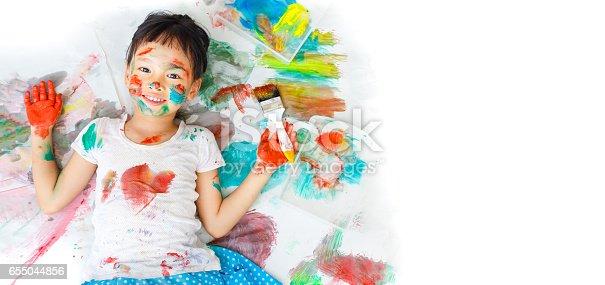 istock Little artist 655044856