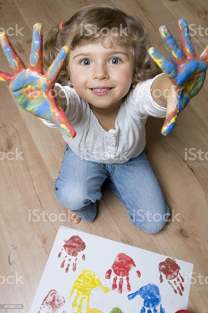 Little artist stock photo