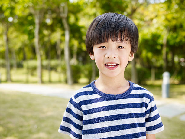 little asian boy stock photo