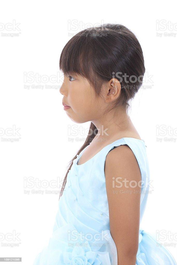 little asian girl wearing dress royalty-free stock photo