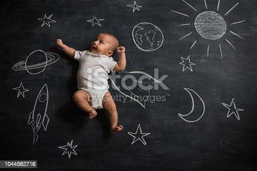 istock Little astronaut 1044562716