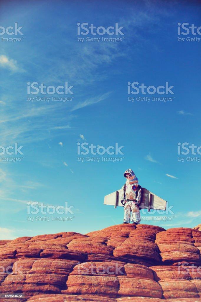 Little astronauta - foto de stock
