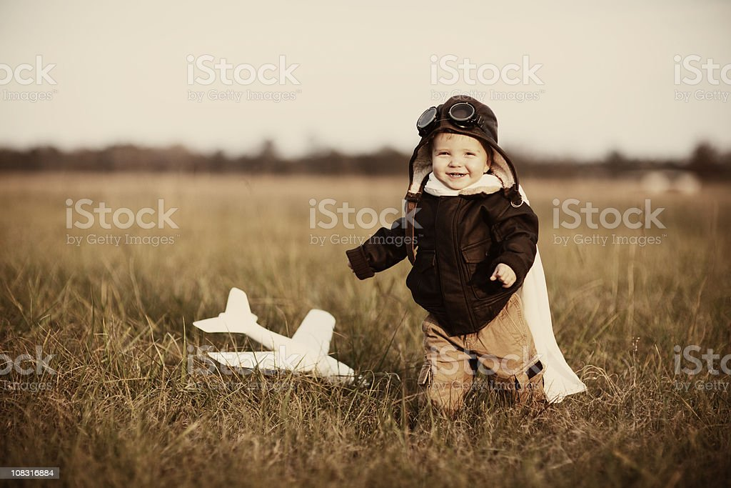 Little Aviator royalty-free stock photo