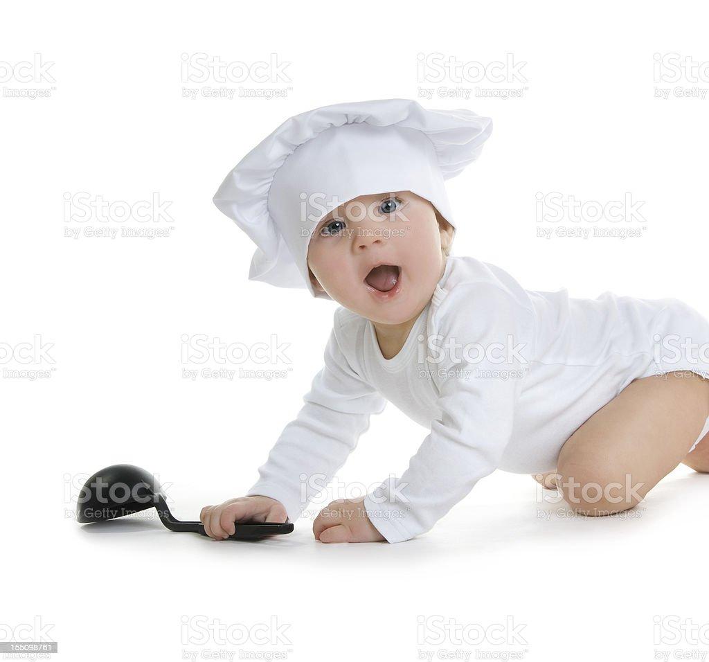 Little Baby Chef stock photo