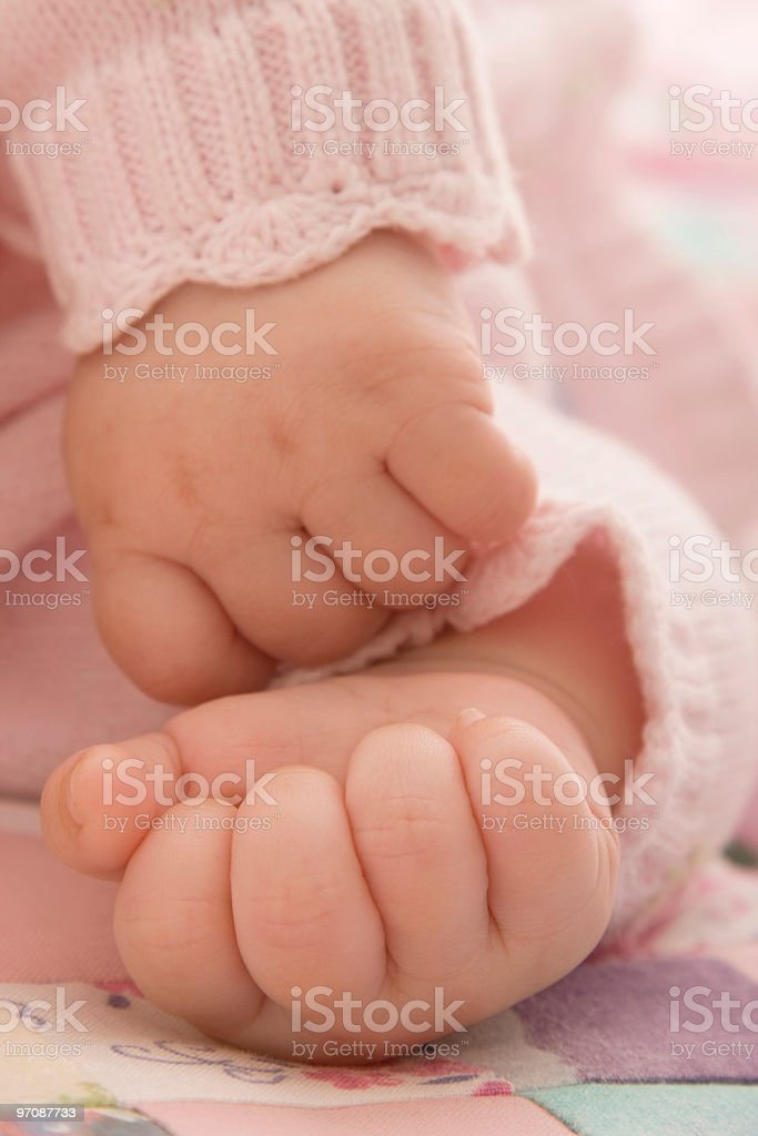 Little baby fingers royalty-free stock photo