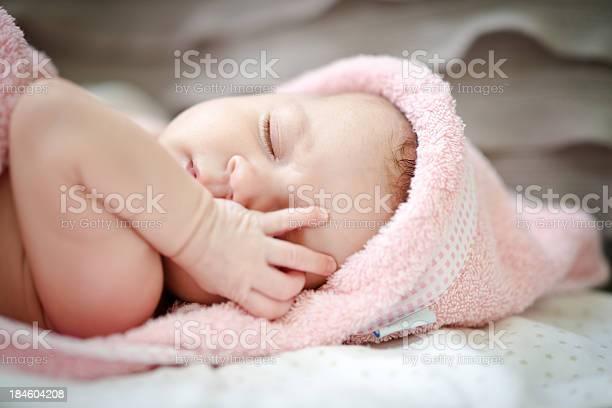 Little Baby Girl Wants To Sleep Stock Photo - Download Image Now
