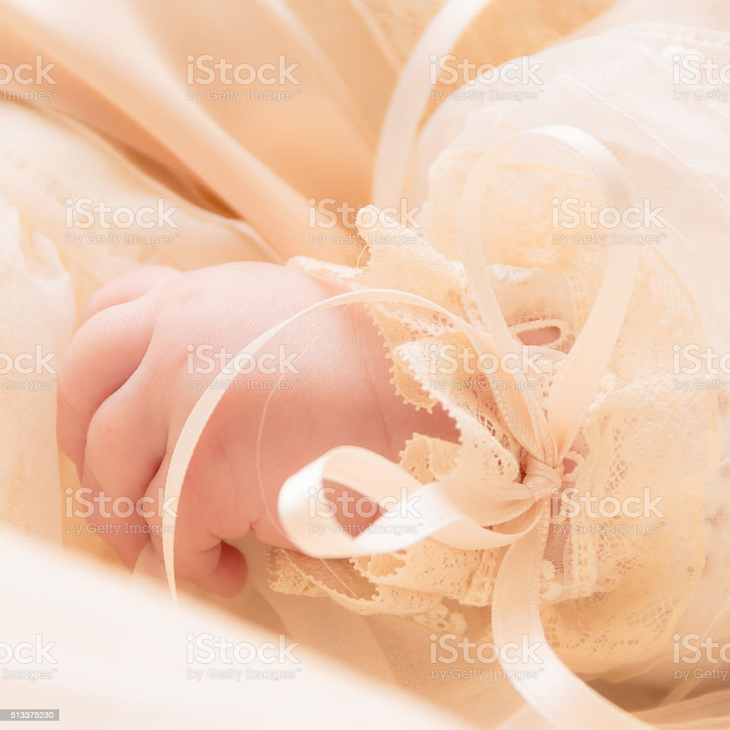 Little Baby Hand stock photo
