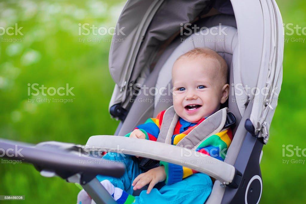 Little baby stroller in  - foto de stock