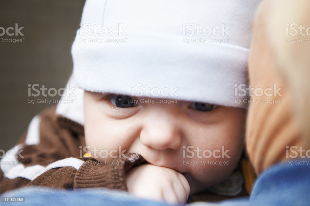 Little baby outdoors. royalty-free stock photo