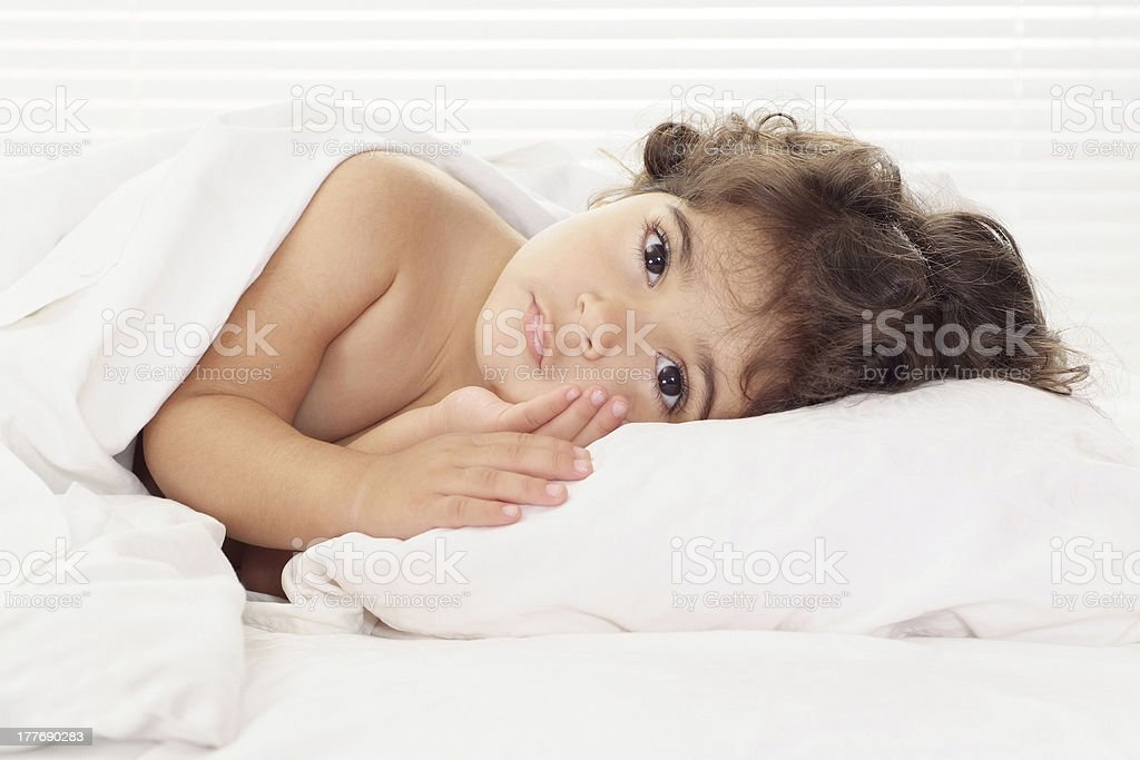 Little baby resting at home royalty-free stock photo