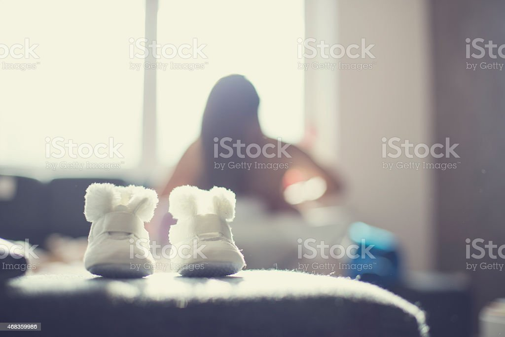 Little baby shoes royalty-free stock photo