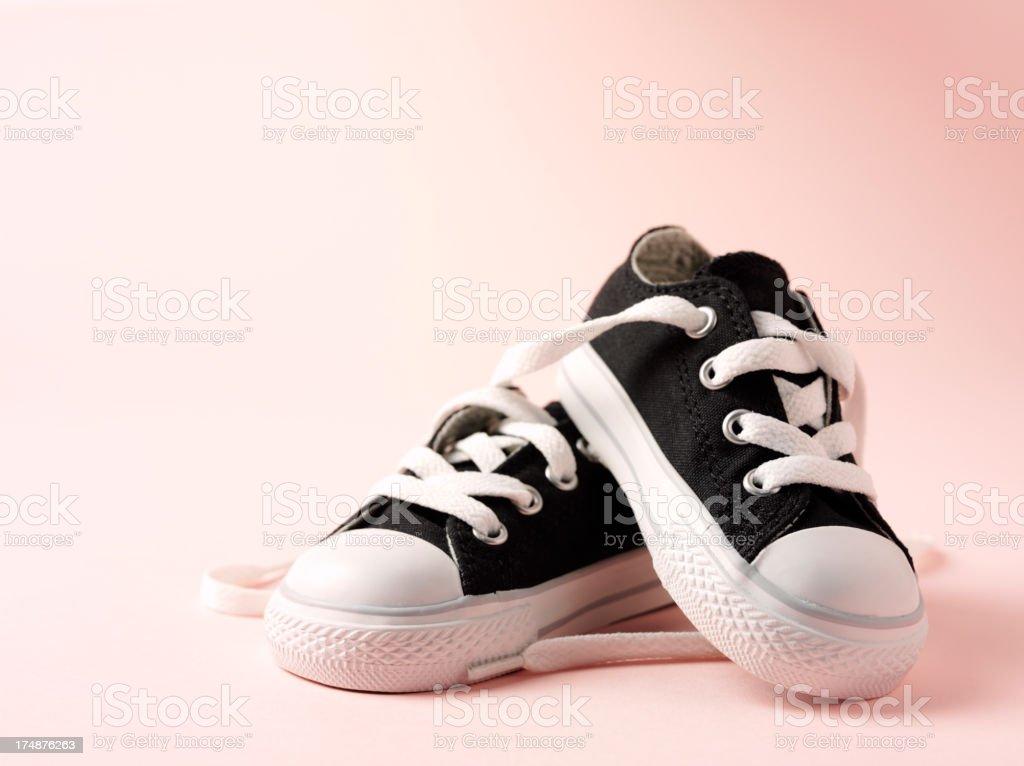 Little baby's Baseball Boots stock photo