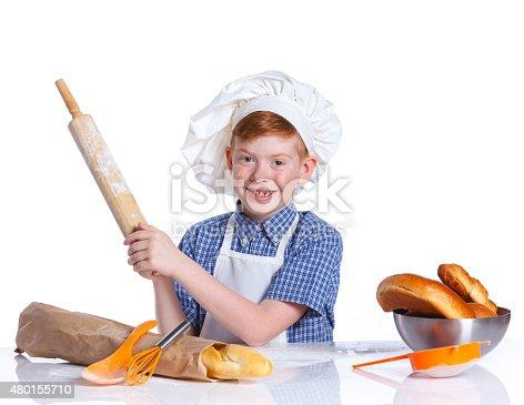 istock Little baker 480155710