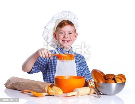 istock Little baker 480156192