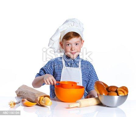 istock Little baker 480156194