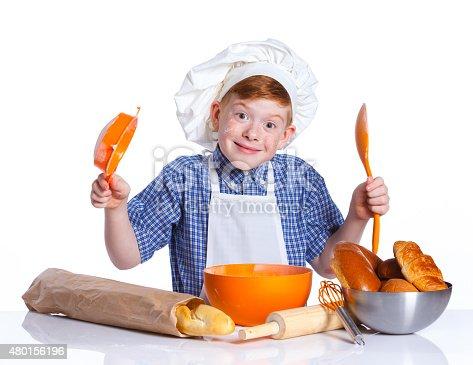 istock Little baker 480156196