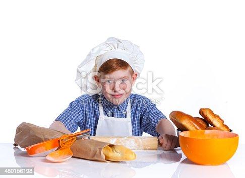 istock Little baker 480156198
