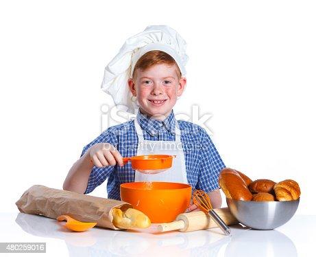 istock Little baker 480259016