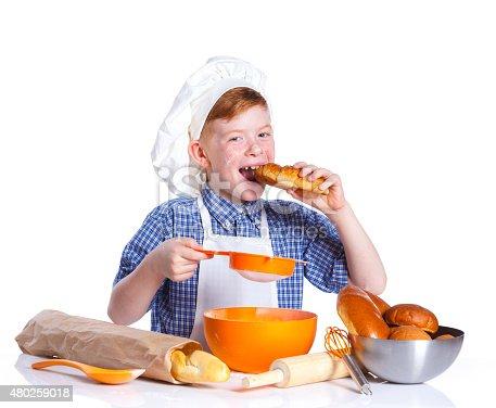istock Little baker 480259018