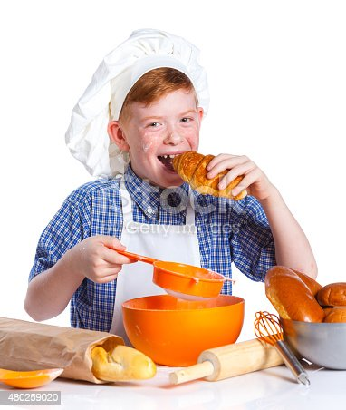 istock Little baker 480259020