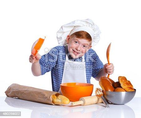 istock Little baker 480259022