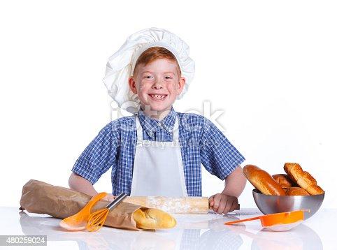 istock Little baker 480259024