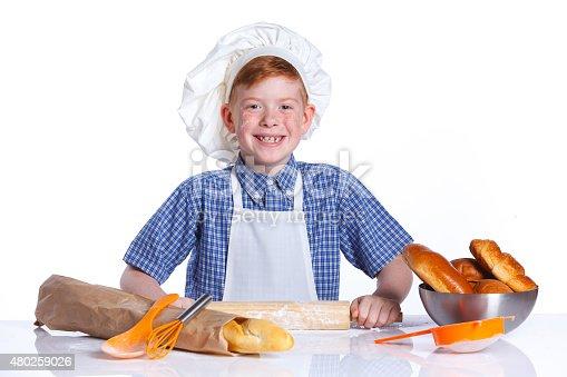 istock Little baker 480259026