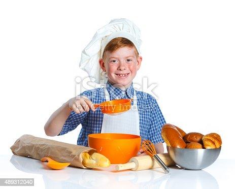 istock Little baker 489312040