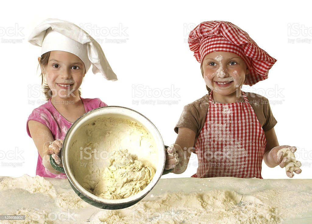Little bakers royalty-free stock photo