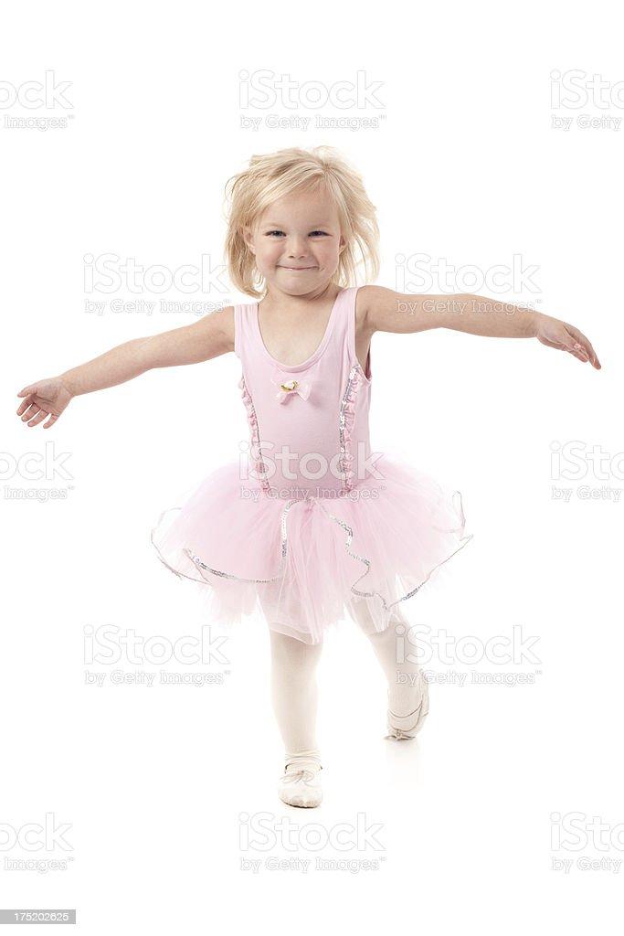 Little Ballerina Dancer Girl Wearing Pink Tutu royalty-free stock photo