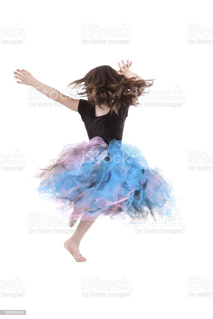 Kleine Ballerina Mädchen Tanzen und tragen Ballettröckchen – Foto