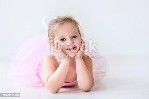 487925730 istock photo Little ballerina in pink tutu 500957050
