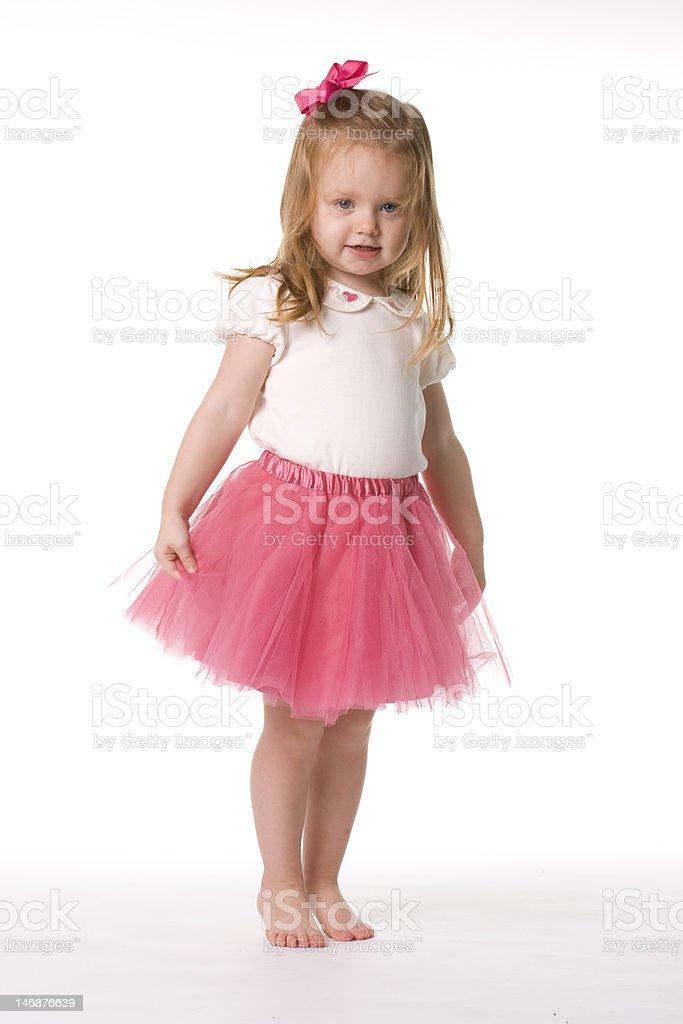 Kleine Ballerina posieren in Pink – Foto
