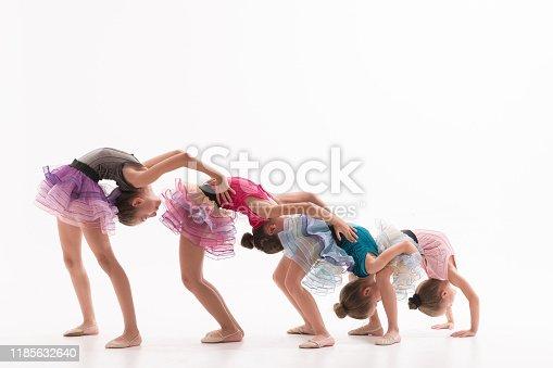 466300721 istock photo Little ballerinas in dance studio 1185632640