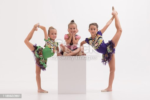 466300721 istock photo Little ballerinas in dance studio 1185632851