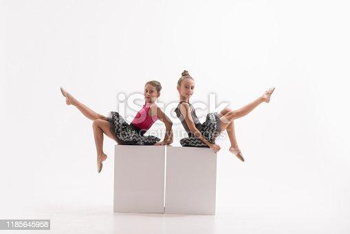 466300721 istock photo Little ballerinas in dance studio 1185645958