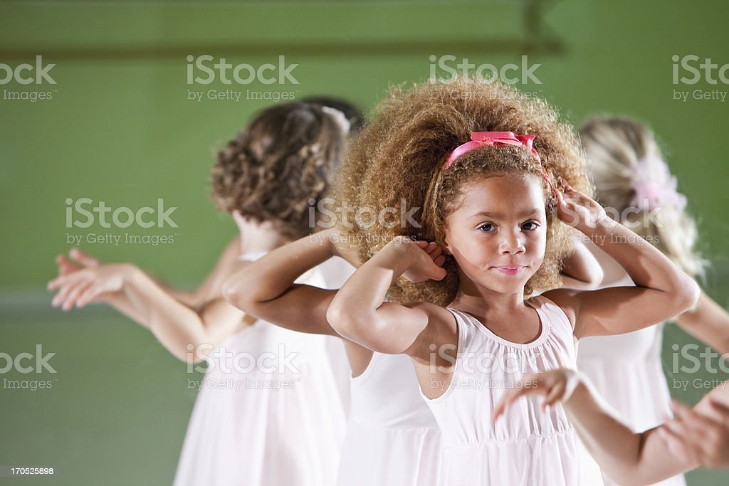 Little ballerinas royalty-free stock photo