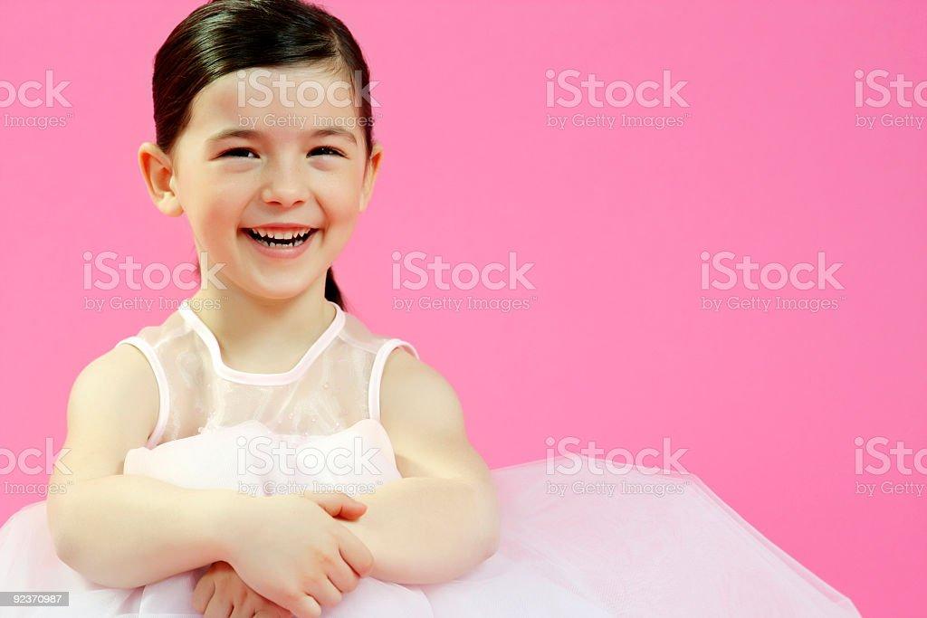Little ballet dancer smiling royalty-free stock photo
