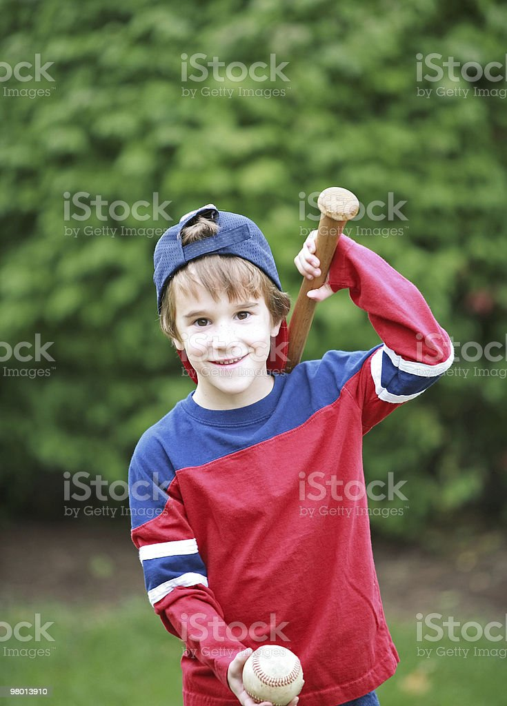 Little Baseball Player royalty-free stock photo