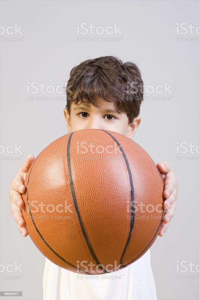 Little basketball player royalty-free stock photo