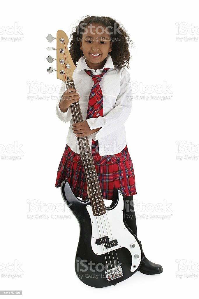 Little Bass Player royalty-free stock photo