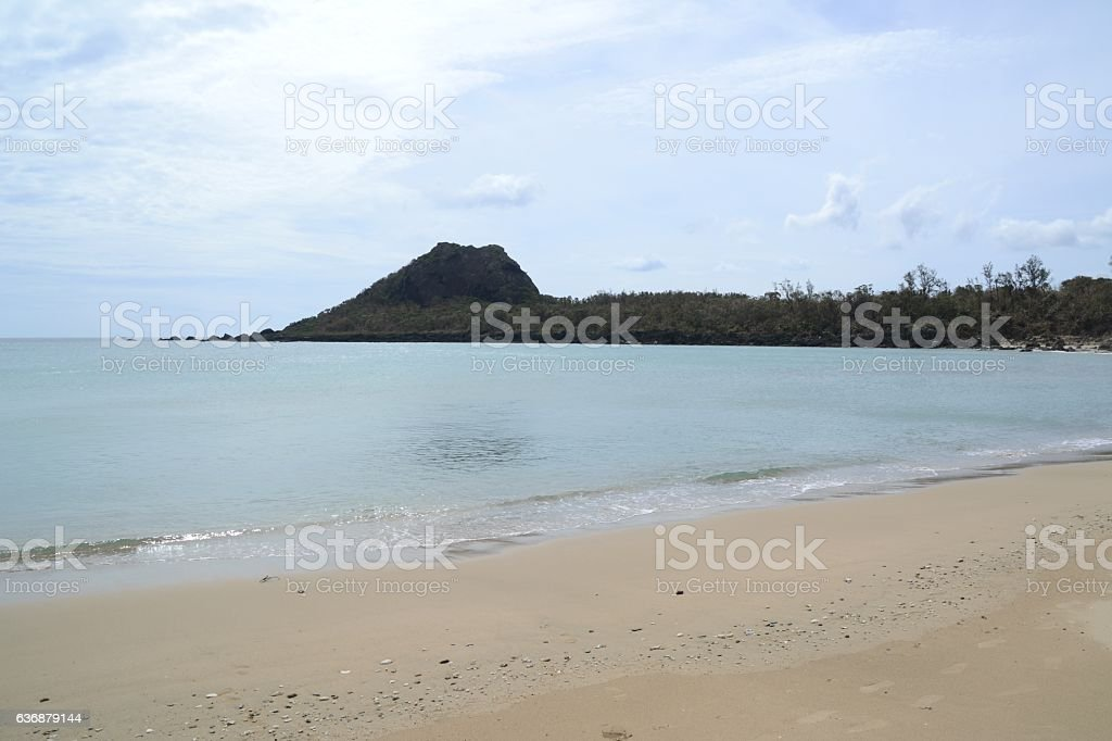Little bay beach, Kenting National Park, Taiwan stock photo