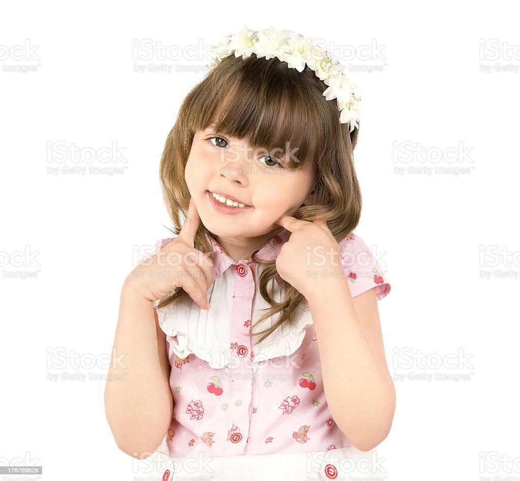 little beautiful girl royalty-free stock photo