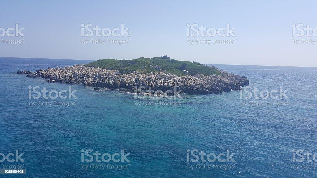 Little beautiful island, Zakynthos, Greece stock photo
