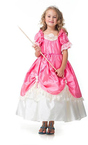 little beauty queen-size-bett. - prinzessin kleid kind stock-fotos und bilder