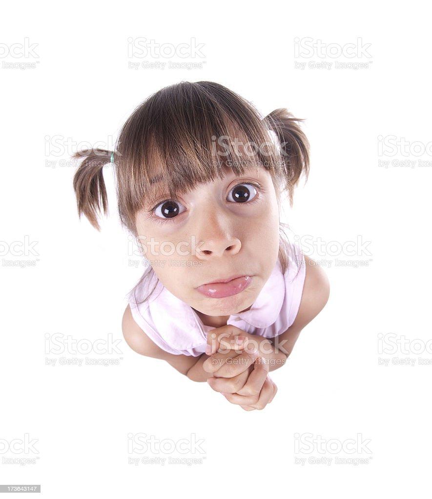 Little Beggar stock photo