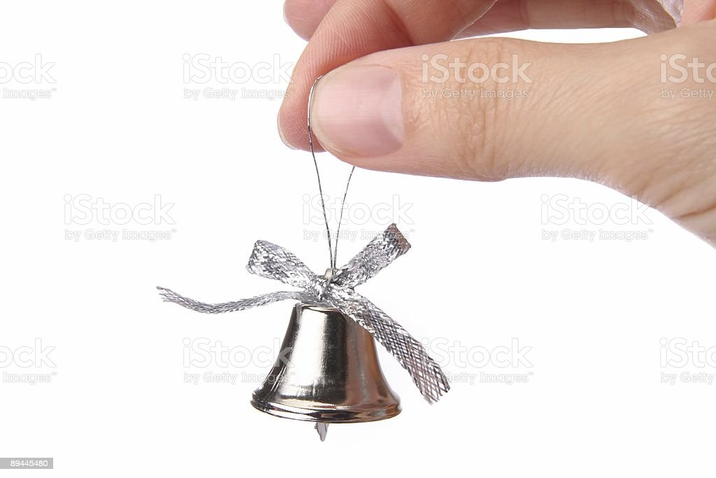 little bell for a christmas tree royalty-free stock photo