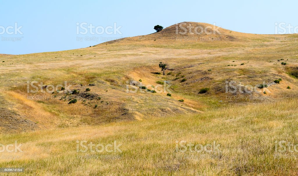 Little Bighorn Battlefield National Monument stock photo