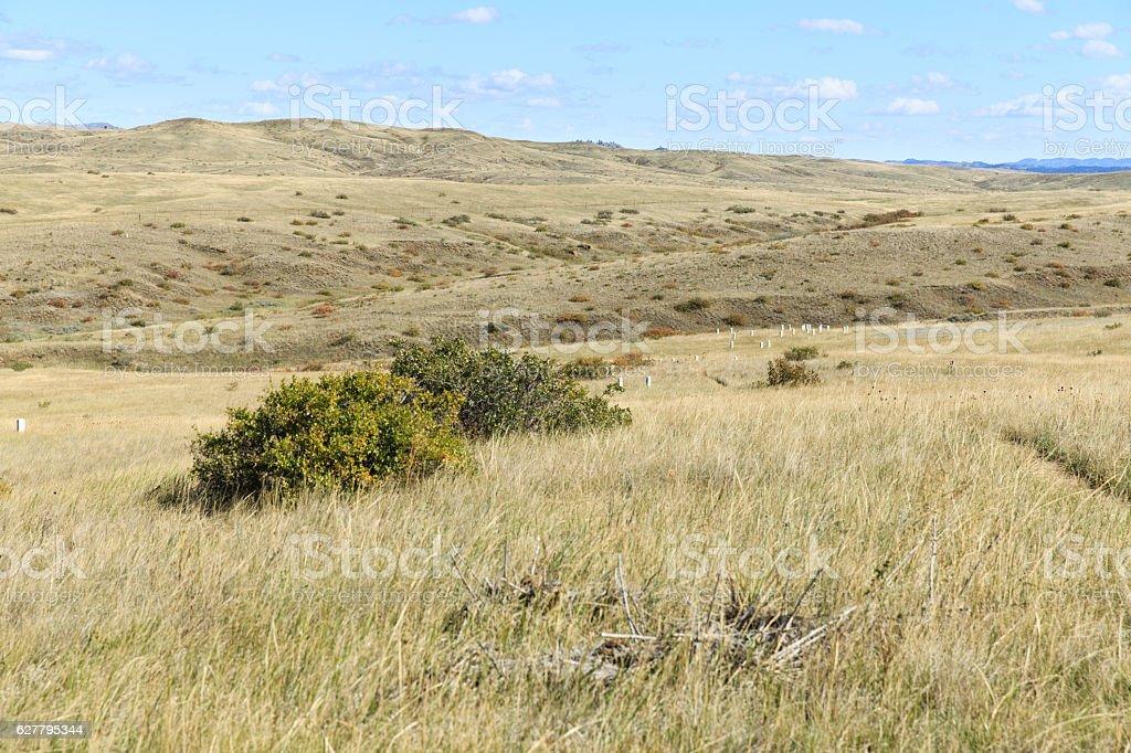 Little Bighorn Battlefield National Monument stock photo