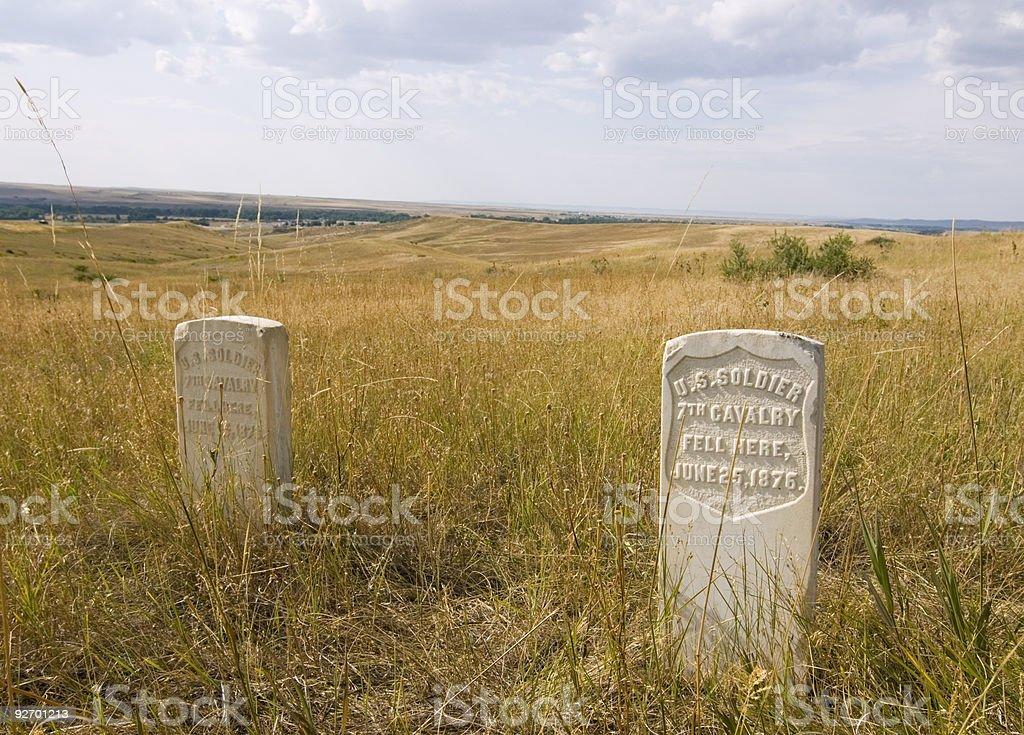 Little Bighorn Battlefield stock photo